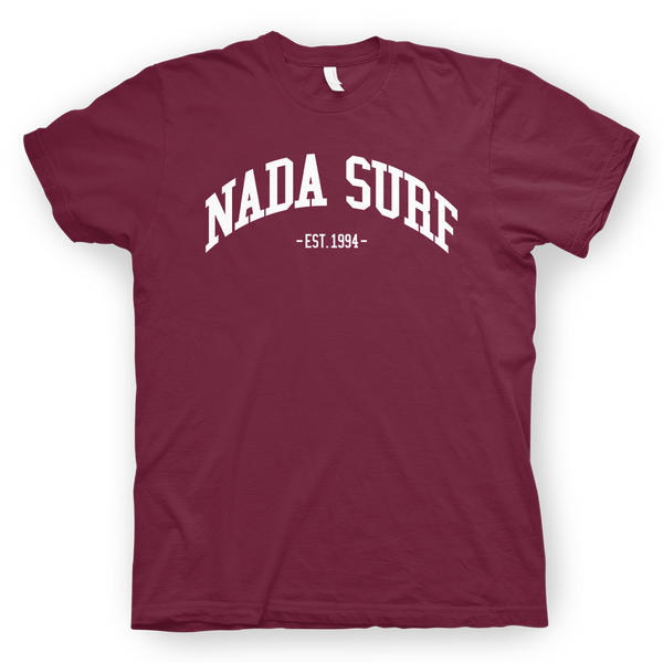 Nada Surf College Maroon T-Shirt- Bingo Merch Official Merchandise Shop Official