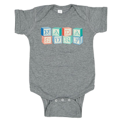 Nada Surf Blocks Baby Onesie Other- Bingo Merch Official Merchandise Shop Official