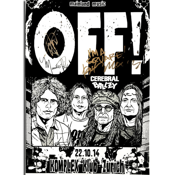OFF! SIGNED: Zurich 22.10.2014 Poster- Bingo Merch Official Merchandise Shop Official