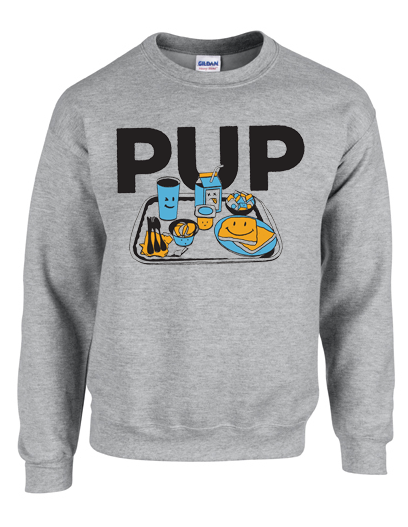 PUP Lunch Tray Sweatshirt Sweatshirt- Bingo Merch Official Merchandise Shop Official