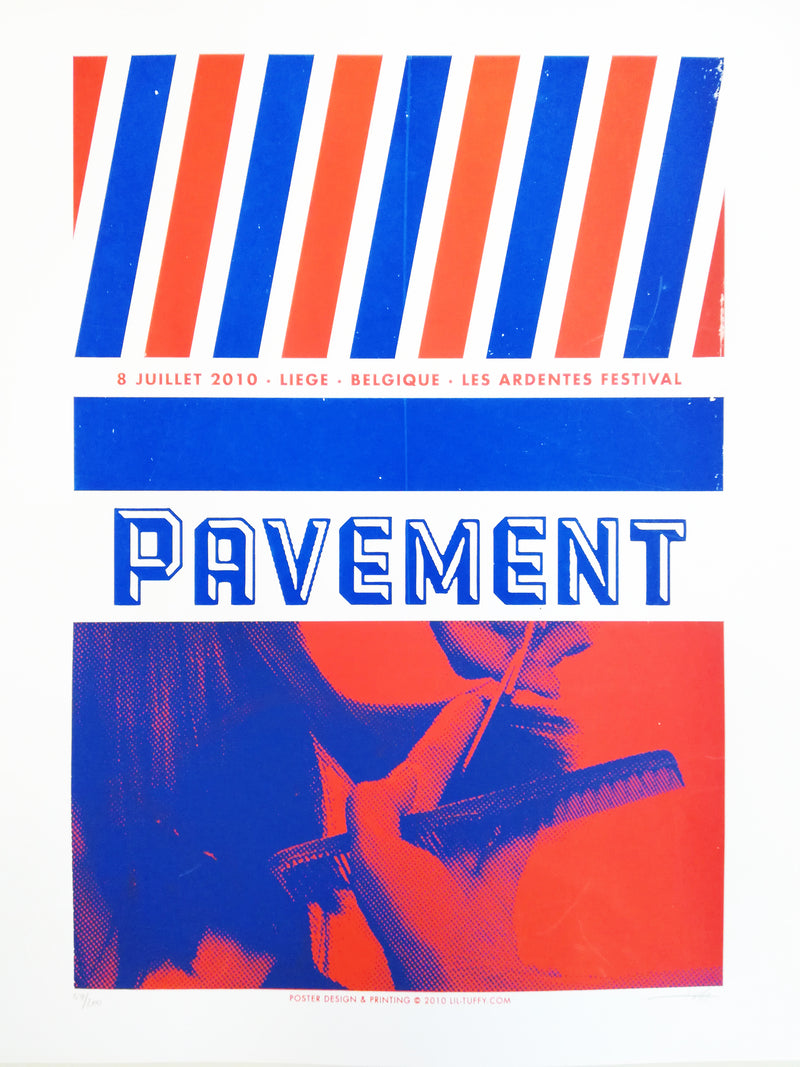 Pavement Les Ardentes 2010 Poster- Bingo Merch Official Merchandise Shop Official