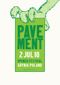 Pavement Opener 2010 Poster- Bingo Merch Official Merchandise Shop Official