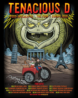 Tenacious D Post Apocalypto The Tour Europe 2020 Poster- Bingo Merch Official Merchandise Shop Official
