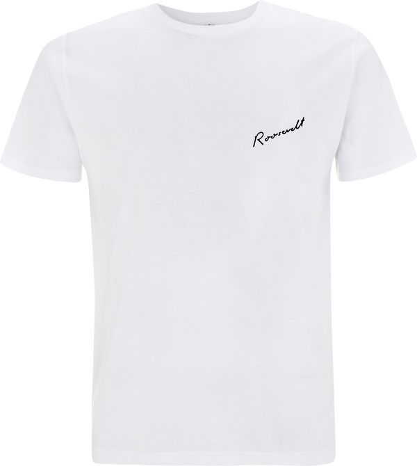 Roosevelt Small Logo White T-Shirt- Bingo Merch Official Merchandise Shop Official