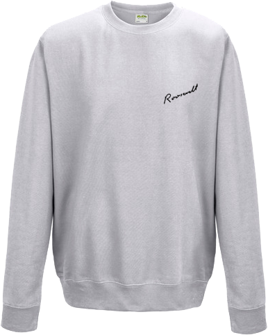 Roosevelt Small Logo Sweatshirt Ash Grey Sweatshirt- Bingo Merch Official Merchandise Shop Official