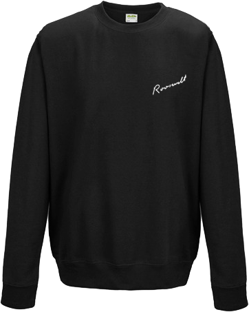 Roosevelt Small Logo Sweatshirt Black Sweatshirt- Bingo Merch Official Merchandise Shop Official