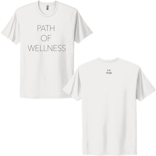 (PRE-ORDER) Path Of Wellness T-Shirt - White