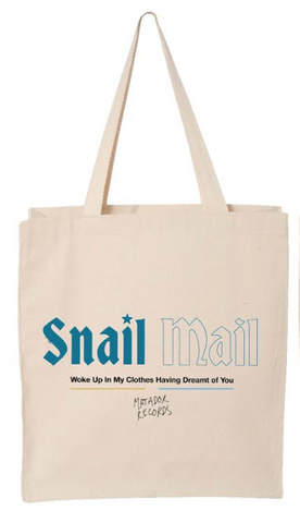 Snail Mail band Heatwave design on a natural canvas Totebag from Bingo Merch