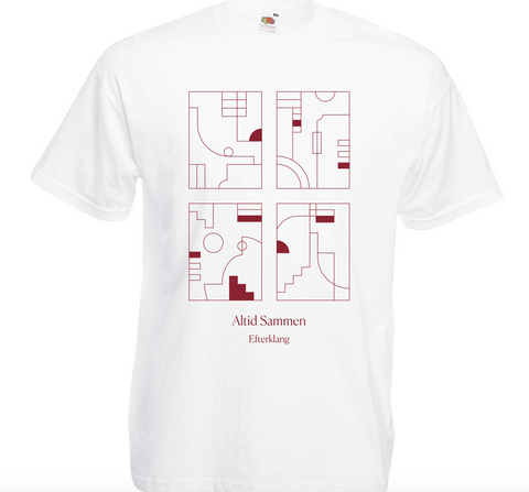 Efterklang Altid Sammen White T-Shirt- Bingo Merch Official Merchandise Shop Official