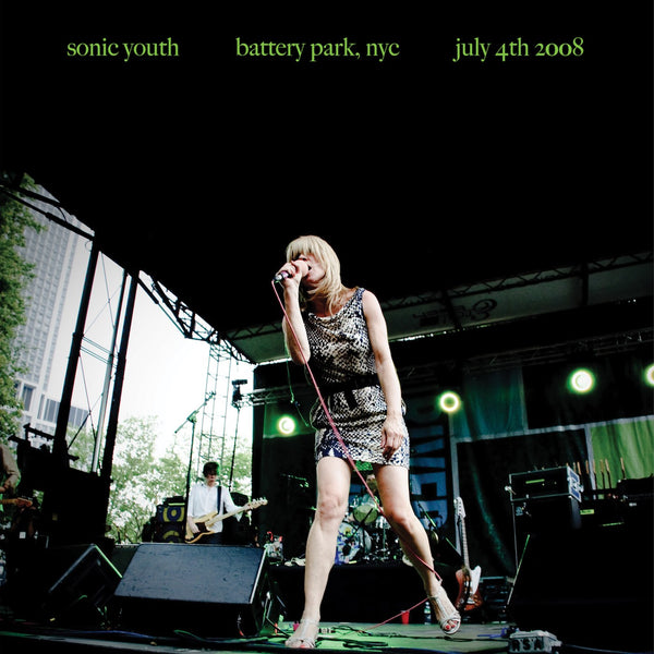 Sonic Youth Live At Battery Park July 4th 2008 LP LP- Bingo Merch Official Merchandise Shop Official