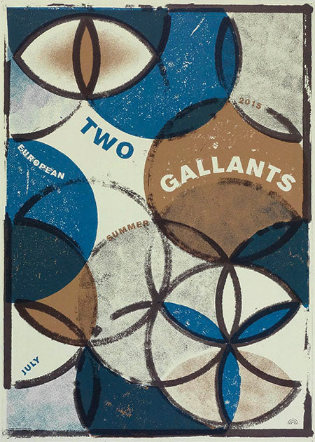 Two Gallants Europe July 2015 Poster Poster- Bingo Merch Official Merchandise Shop Official