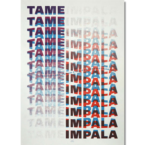 Tame Impala Germany 2014 Poster- Bingo Merch Official Merchandise Shop Official