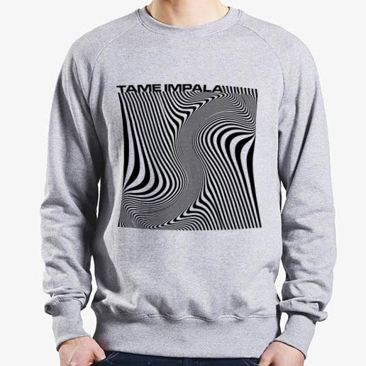 Tame Impala Wave Square Sweatshirt Sweatshirt- Bingo Merch Official Merchandise Shop Official