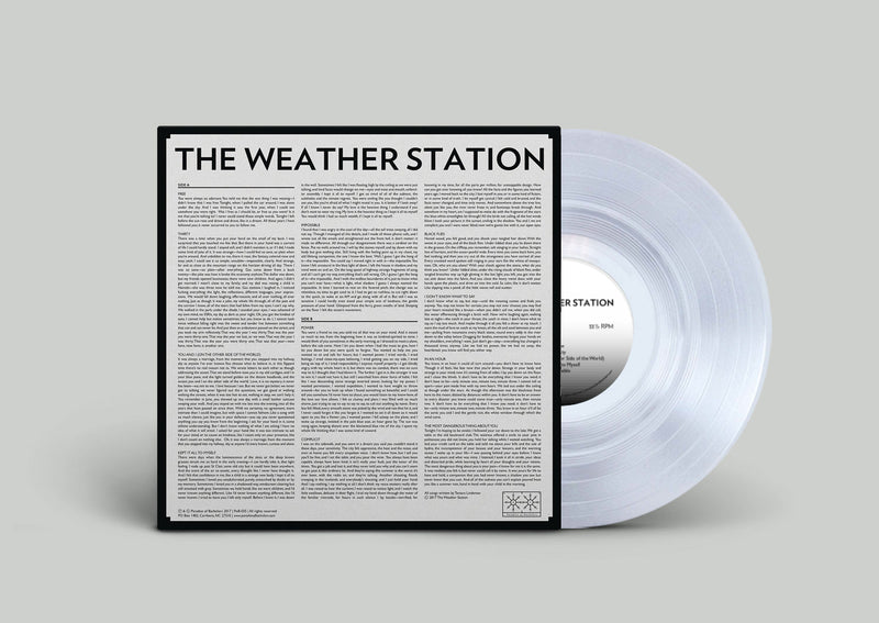 The Weather Station S/T Limited Edition Clear LP