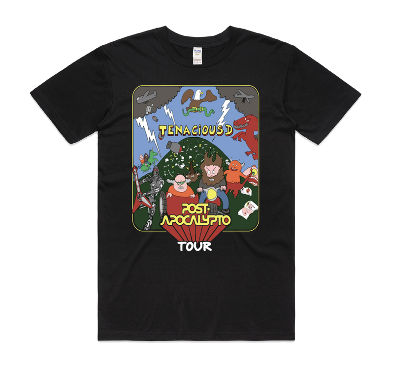 Tenacious D Post Apocalypto Tour T-Shirt- Bingo Merch Official Merchandise Shop Official