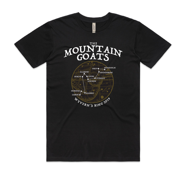 The Mountain Goats Wyvern's Ring T-Shirt- Bingo Merch Official Merchandise Shop Official