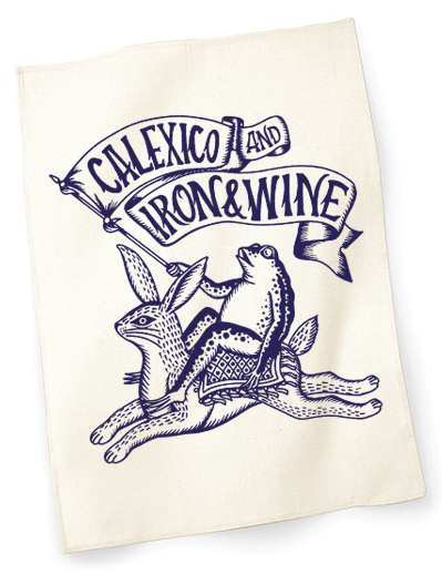 Calexico and Iron & Wine Toad & Hare Tea Towel Other- Bingo Merch Official Merchandise Shop Official