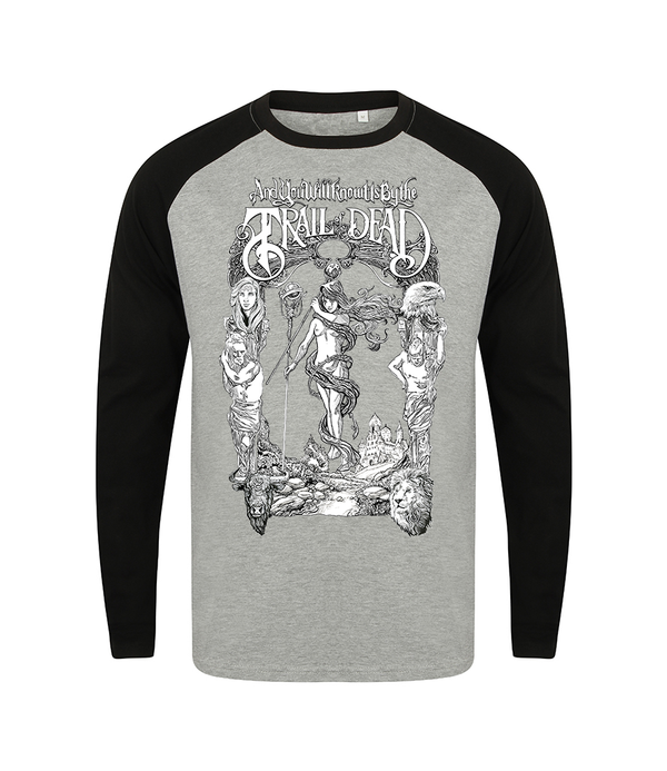 ...And You Will Know Us By The Trail Of Dead World Tarot Baseball Longsleeve Longsleeve- Bingo Merch Official Merchandise Shop Official