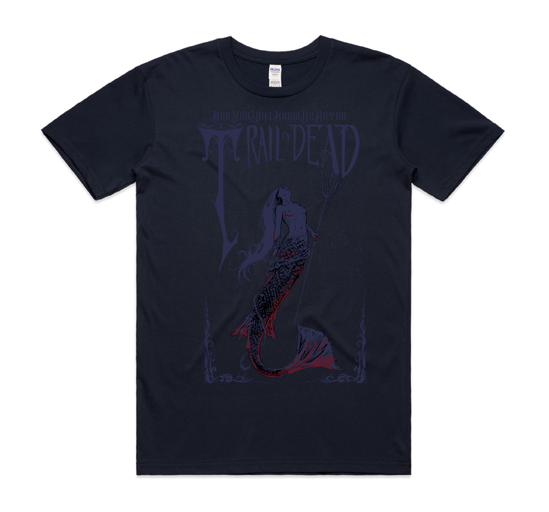 ...And You Will Know Us By The Trail Of Dead Mermaid T-Shirt- Bingo Merch Official Merchandise Shop Official