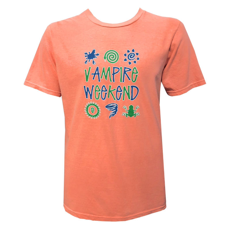 Vampire Weekend Orange Hypercolor T-shirt T-Shirt- Bingo Merch Official Merchandise Shop Official