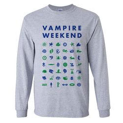 Vampire Weekend Long Sleeve Symbol T-shirt Longsleeve- Bingo Merch Official Merchandise Shop Official