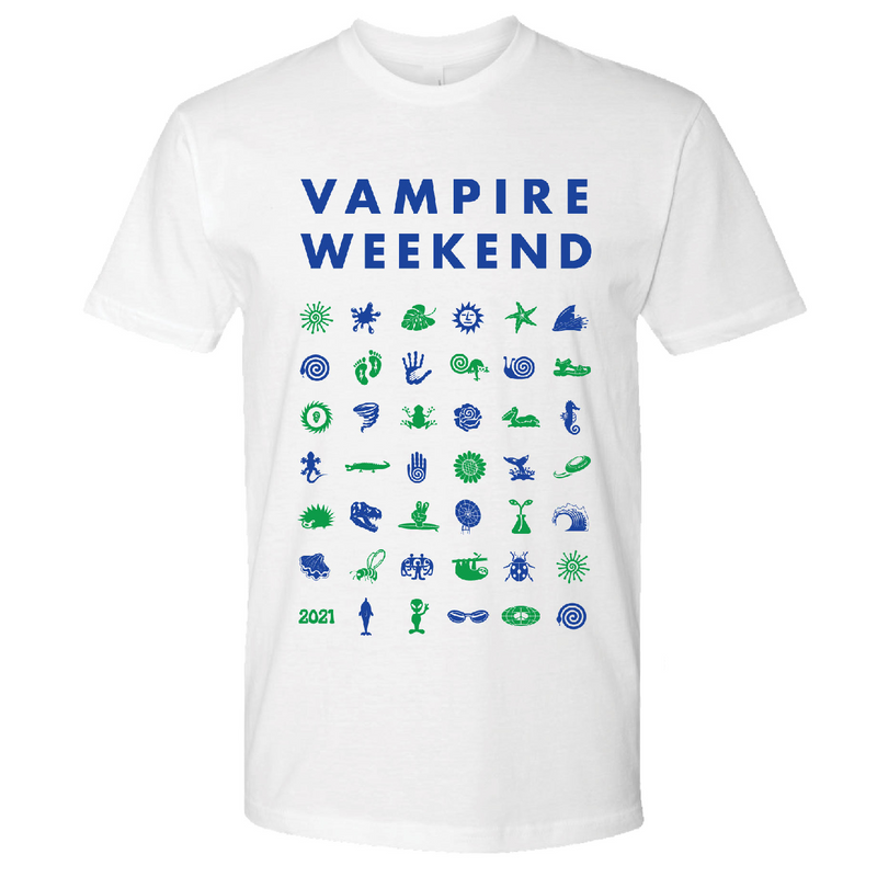 Vampire Weekend Short Sleeve Symbol T-shirt T-Shirt- Bingo Merch Official Merchandise Shop Official