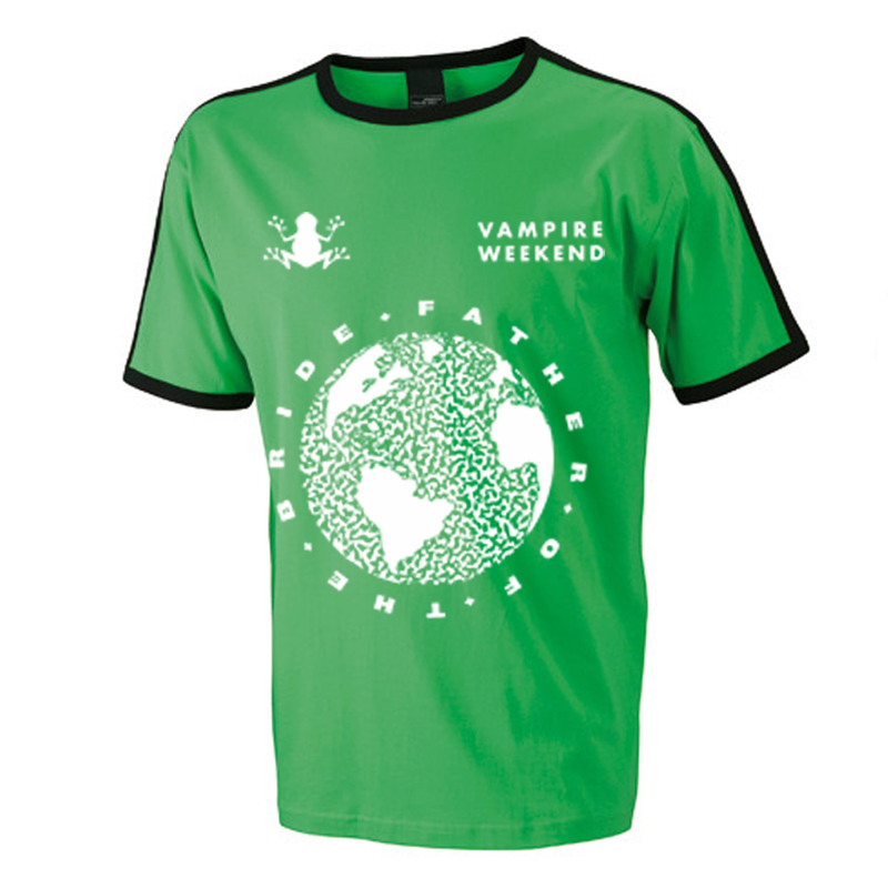 Vampire Weekend Green Football Jersey T-Shirt- Bingo Merch Official Merchandise Shop Official