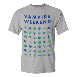 Vampire Weekend Short Sleeve Symbol Tour T-shirt T-Shirt- Bingo Merch Official Merchandise Shop Official