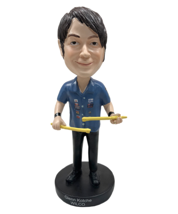 Wilco Glenn Kotche Bobble Head Other- Bingo Merch Official Merchandise Shop Official