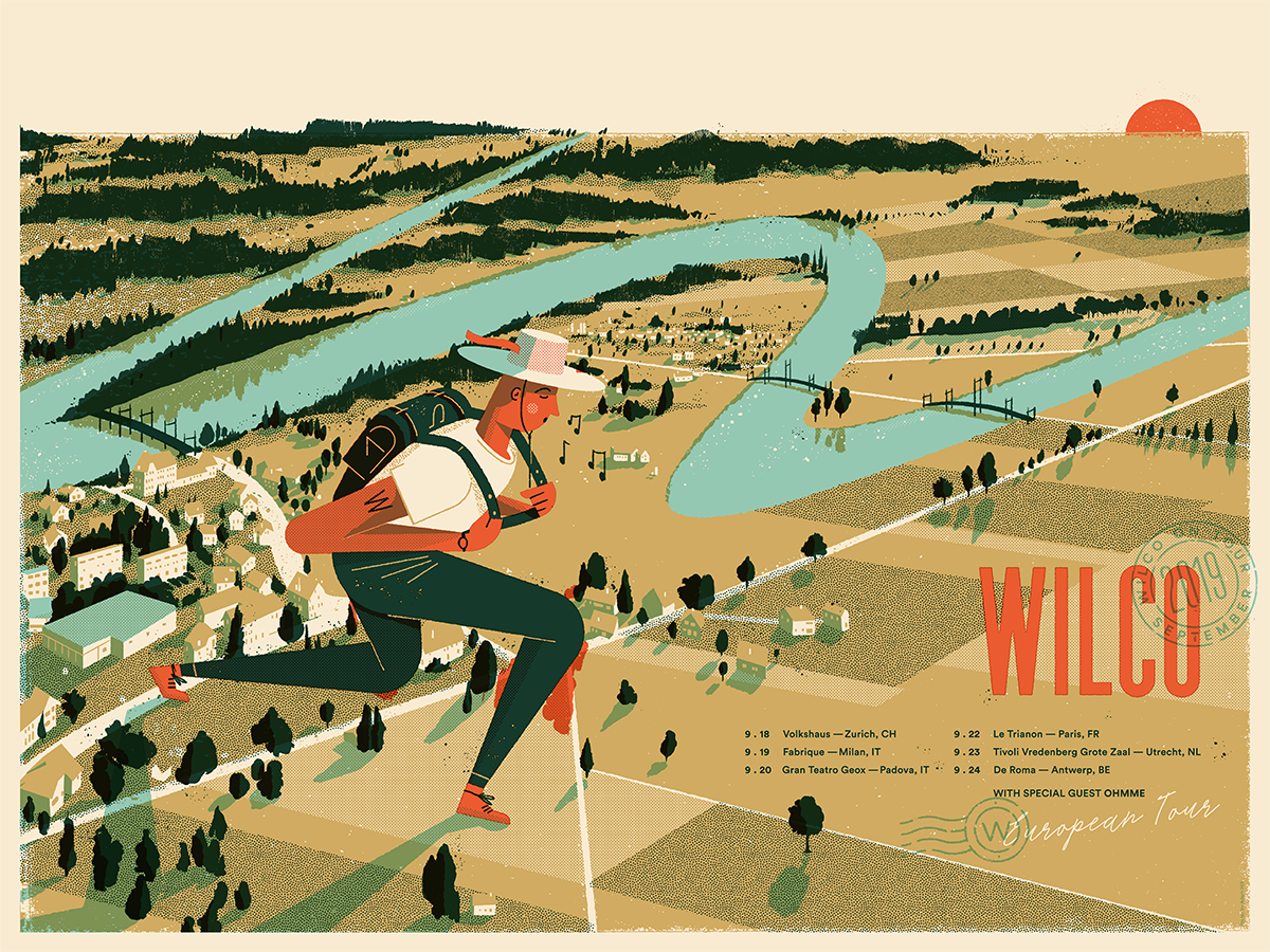Wilco Backpacker European Tour 2019 Poster Poster- Bingo Merch Official Merchandise Shop Official