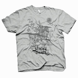 Wooden Shjips Horseman Grey T-Shirt- Bingo Merch Official Merchandise Shop Official