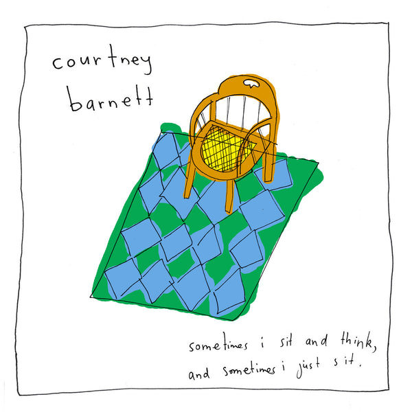 Courtney Barnett album Sometimes I Sit And Think... on Black Vinyl LP from Bingo Merch