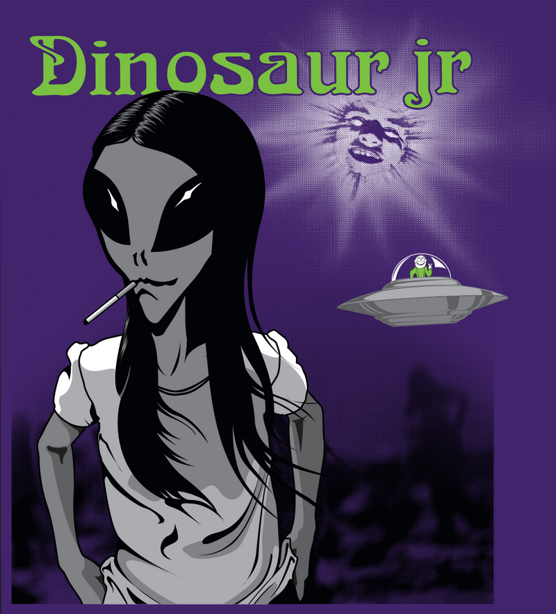 Dinosaur Jr. Dinosaur Jr. x Alien Workshop T-Shirt- Bingo Merch Official Merchandise Shop Official