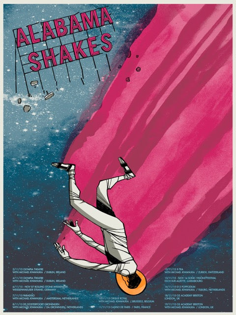 Alabama Shakes Fall Tour 2015 Poster- Bingo Merch Official Merchandise Shop Official