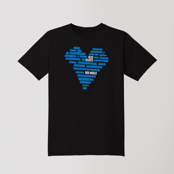 Bob Mould (PRE-ORDER) Blue Hearts T-Shirt T-Shirt- Bingo Merch Official Merchandise Shop Official