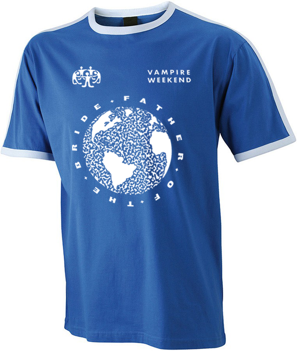 Vampire Weekend Blue Football Jersey T-Shirt- Bingo Merch Official Merchandise Shop Official