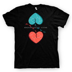 Broken Social Scene Hearts Black T-shirt- Bingo Merch Official Merchandise Shop Official