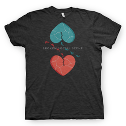 Broken Social Scene Hearts Dark Heather Grey T-shirt- Bingo Merch Official Merchandise Shop Official
