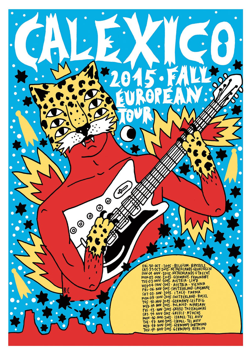 Calexico 2015 Fall European Tour Poster- Bingo Merch Official Merchandise Shop Official