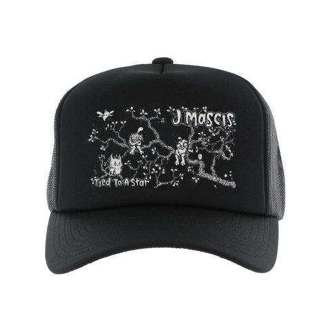 J Mascis black Trucker Hat from Bingo Merch