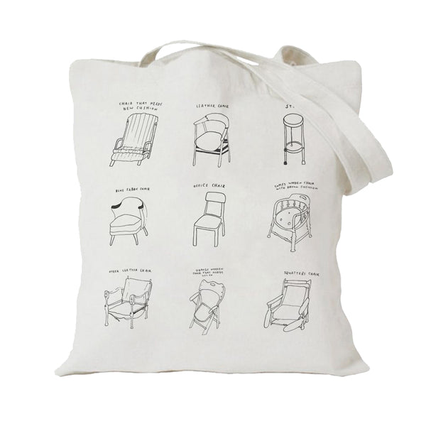 Courtney Barnett Assorted Chairs Totebag Totebag- Bingo Merch Official Merchandise Shop Official