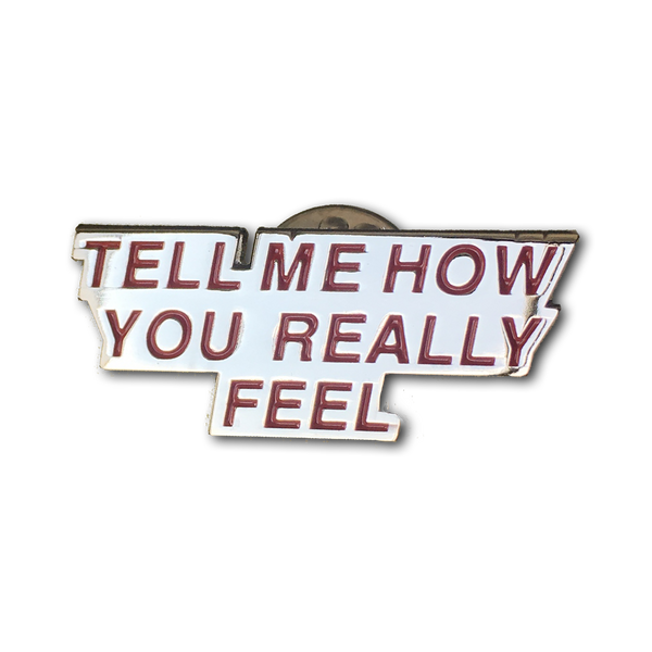Courtney Barnett Tell Me How You Really Feel - metal pin Pin Badge- Bingo Merch Official Merchandise Shop Official