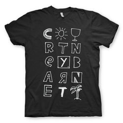 Courtney Barnett Tropical Black T-Shirt- Bingo Merch Official Merchandise Shop Official
