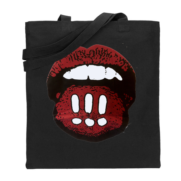 Mouth Black Totebag