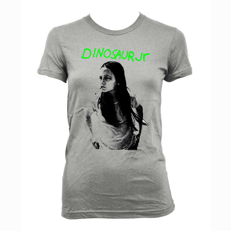 Dinosaur Jr Green Mind design on a grey Girls Tshirt