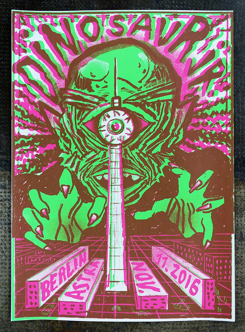 Dinosaur Jr. Berlin 2016 Poster- Bingo Merch Official Merchandise Shop Official