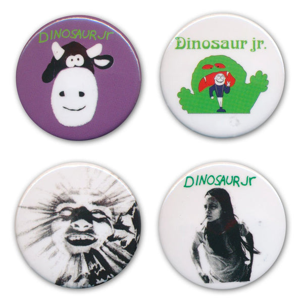 Dinosaur Jr. Button Badge Set Pin Badge- Bingo Merch Official Merchandise Shop Official