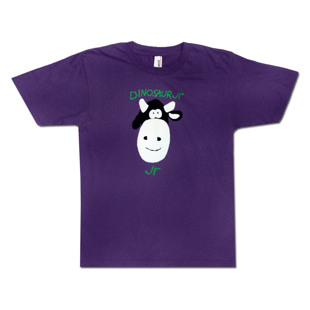 Dinosaur Jr Cow design on a purple Kids size Tshirt