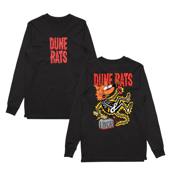 Dune Rats Torched Rat Longsleeve - Bingo Merch Official Merchandise Shop Official