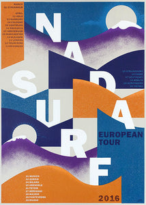 Nada Surf European Tour Spring 2016 Poster- Bingo Merch Official Merchandise Shop Official